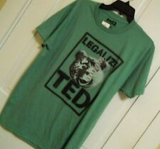 Mens Green Comical Funny T-Shirt Tee Legalize TED Size Medium