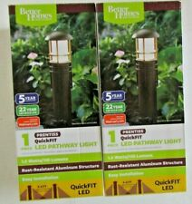 Set of 2 Better Homes and Gardens Prentiss QuickFIT LED Pathway Light NIB