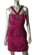 LAUNDRY SHELLI SEGAL Sugar Plum Crinkle Pleated Above Knee Dress NWT $345
