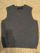 Cezani Sweater Vest Size M Gray Fine Pima Cotton