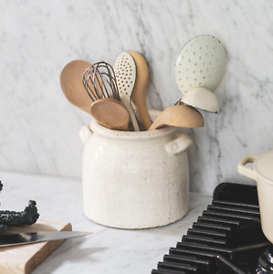 Ravello Pot with Handles in White - Ceramic