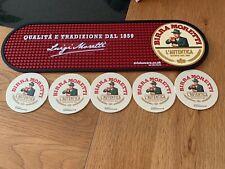 More details for genuine brand new  birra moretti rubber bar runner plus 5 beer mats