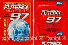 "RARE !! Pochette ""FUTEBOL BRASILEIRO 97"" packet, tüte, bustina PANINI TOPPS"