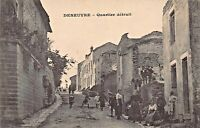 DENEUVRE FRANCE~QUARTIER DETRUIT~PHOTO POSTCARD WW1 U.S. SOLDIER 1918 MESSAGE
