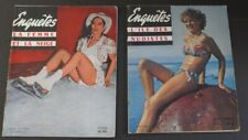 ENQUETES Nos. 9 & 13 Pair of 1953 Spicy French Figure Photo Pin-Up Digests