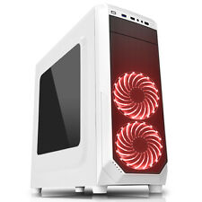 CIT Prisma RGB caso de juegos de PC 2 X Rgb ventiladores 1 X Usb 3.0 Y Ventana Lateral Blanco