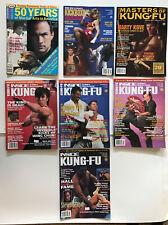 Vintage Inside Kung Fu Lot of 7 Issues Karaté Martial Art Taekwondo Judo