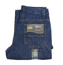 New Lee Men's Carpenter Jeans 100% Cotton Denim Dark Indigo Color  Men's Sizes