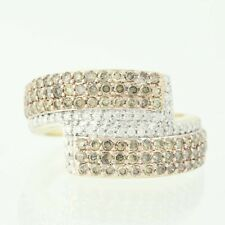 NEW Diamond Cluster Bypass Ring - 10k Yellow Gold Round Cut 1.00ctw