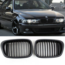 Pair Front Black Kidney Grilles Grill For BMW(R) E39 525 528 530 535 M5 00 01 02
