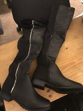 Forever Fifty New Over The Knee Black Boots Sz10