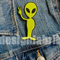 PATCH ALIEN AUFBÜGELN Bügel Bild Aufnäher Nähen Hose Abzeichen Jeans UFO Sticken