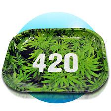Drehunterlage Rolling Tray Schaber Magnet Tabak Dreh-Tablett Drehen 420 green
