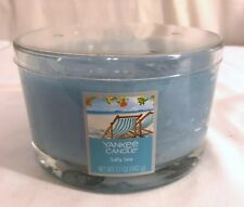 New Yankee Candle 3-Wick Salty Sea Scent Dish Candle 17oz