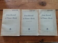 New listing From Beowolf To Thomas Hardy War Department Education Manual Em 109 Volume 1,3&4