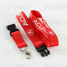 Acura Lanyard JDM Keychain Badge Holder Quick Release Key Chain INTEGRA - RED