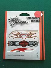TATUAGGIO TEMPORANEO HARLEY DAVIDSON TATTOO LOGO FIAMME MOTO CUSTOM BIKER