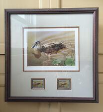Duck Stamp Print 1991 Australian Nature Conserv. Agncy Wetlands Framed