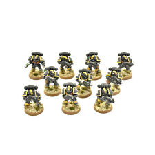 SPACE MARINES 10 tactical squad #5 PRO PAINTED Red Scorpions Army