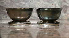 Vintage Open Sugar Bowl with Sterling Silver Rim Coaster Marked -  Lot of 2