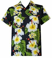 Hawaiian Shirts Mens Hibiscus Flower Print Beach Party Aloha