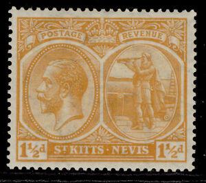 ST KITTS-NEVIS GV SG26, 1½d orange-yellow, M MINT.