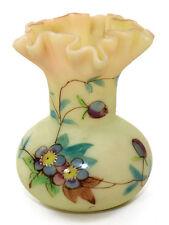 Webb enameled Burmese vase, Prunus pattern, England ca 1890s [11146]