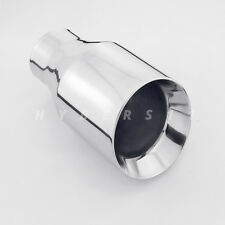 "2.5"" Inlet 4 Inch Out 7"" Long Angled Dual Wall Round Stainless Steel Exhaust Tip"
