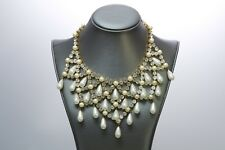Dolce and Gabbana Victorian Style Crystal Pearl Necklace