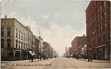 State Street North From Ninth in Erie PA Postcard 1907