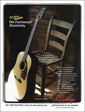 Epiphone Masterbilt AJ-500R acoustic guitar ad 8 x 11 advertisement 2003 print