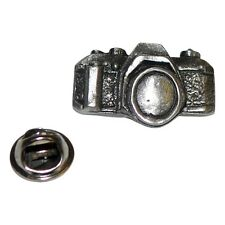 Camera Lapel Pin Badge In British Pewter XDHLP1182