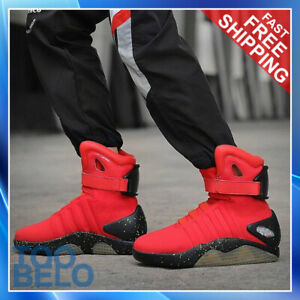 Mens BACK TO THE FUTURE WARRIOR Basketball LED LIGHT Sneakers Athletic Shoes New