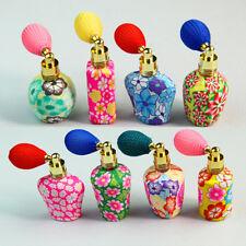 Vintage leere nachfüllbar Ton / Metall Pumpe Parfum Flaschen- Spray Zerstäuber
