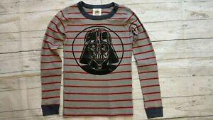 Hanna Andersson 140 10 Star Wars Pajama Shirt Top Darth Vader Gray Red Striped