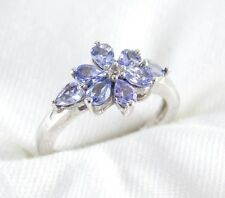 Genuine Blue Violet Tanzanite Topaz Ring 1.14ct 925 Sterling Silver Size 6