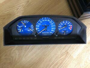 AMG W124 300km/h Mercedes Benz Speedo Cluster Dash Blue Version 500E Hammer