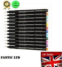 12 Pcs Colors Fine Point Pens, Coloring Ultra Fine 0.5 mm tip in 12 individual c