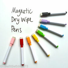 8 colour set magnetic white board marker pens, dry erase eraser, easy whiteboard