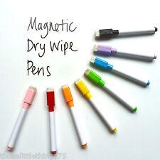 2 X 8 Colori Set magnetico WHITE BOARD MARKER PENNE, Dry Erase GOMMA, facile da pulire