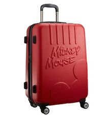 Red Mickey Mouse Lightweight Luggage Travel Rolling Bags for Adult Suitcase