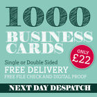 Business Cards Printed full colour - 1000 only £22.00, many options available!
