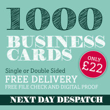 More details for business cards printed full colour single or double sided - 1000 only £22.00