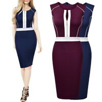 MIUSOL Women's Slimming Bodycon Dress, with Front Zipper, for Work, Formal
