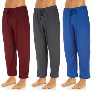 DARESAY Men's Soft Jersey Knit Lounge Sleep Pants with Pockets, Pack of 3