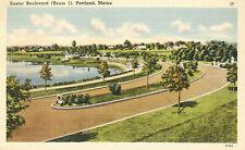Baster Boulevard Route 1 Postcard Portland  Maine Aerial View