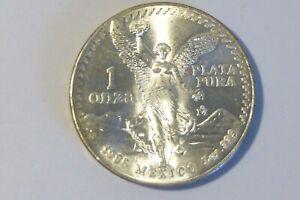 ESTATE FIND 1985 - Mexico 'Libertad' 1oz .999 Una Onza Plata Pura Coin!