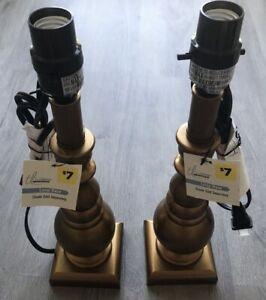 True Living Essentials Gold Lamp Bases Set Of 2