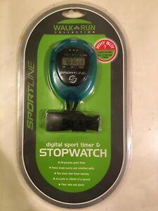 Sportline Walk Run Collection Digital Sport Timer & Stopwatch (Blue)