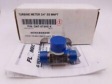 Gpi Flomec Gnt 075h Turbine Meter Body G Series Flowmeter 34 Npt Gnt 075hx X